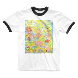 絵描き-國重 奈穂-8 Ringer T-shirts