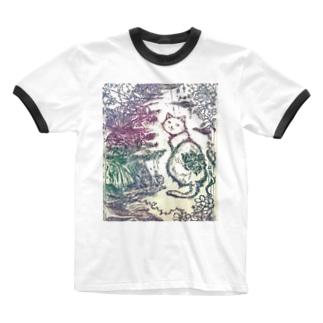 絵描き-國重 奈穂-12 Ringer T-shirts