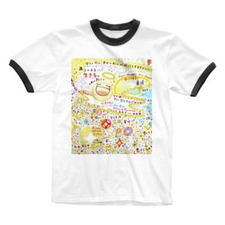 絵描き-國重 奈穂-13 Ringer T-shirts