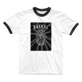 BYAKUE(B) Ringer T-shirts