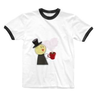 シルクハット先生の愛 Ringer T-shirts
