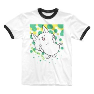 にゃん公ポップ Ringer T-shirts