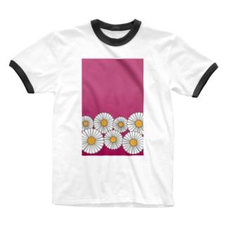 ひな菊 Ringer T-Shirt