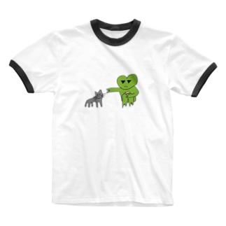FUZZガエル&ユニちゃん Ringer T-shirts