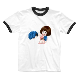 女子格闘技グッズ【漫画*ハナカク】  Ringer T-shirts