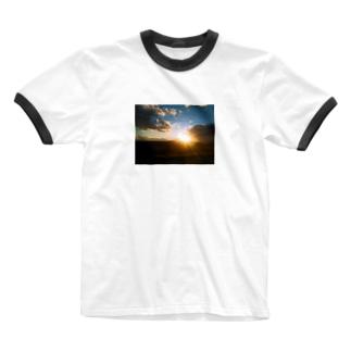 夕やけ3 Ringer T-shirts
