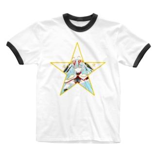 ティッシュババア(星型)リンガーTシャツ Ringer T-shirts
