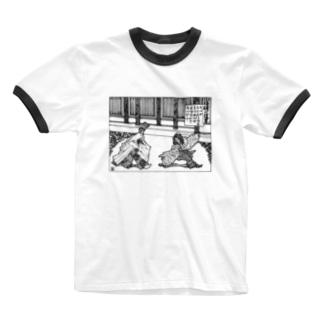 晴明対道尊 Ringer T-shirts
