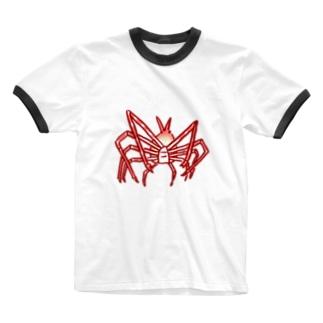 深鮮!タカアシガニ Ringer T-shirts