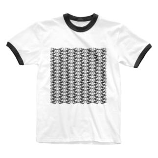 simbol03_mono Ringer T-shirts