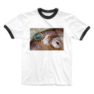 死んだ魚の目_キタマクラ_20180825_0645 Ringer T-shirts