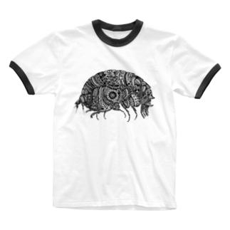 横蝦 Ringer T-shirts