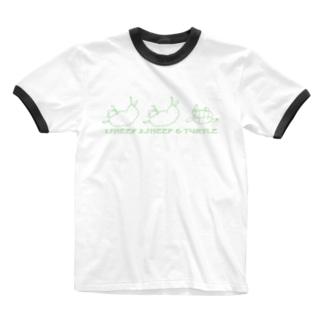 かわいそうな羊と亀 Ringer T-shirts