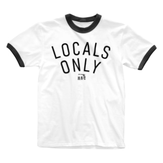 LOCALS ONLY  BLK LOGO Ringer T-shirts