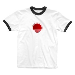 HINOMARU Ringer T-shirts