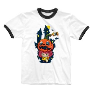 ハロウィン×ハロウィン Ringer T-shirts