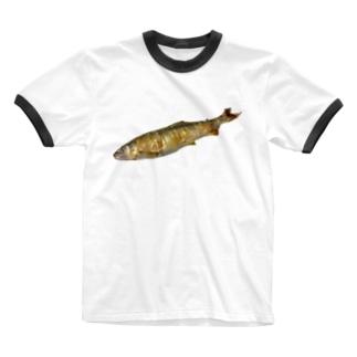 長良川の鮎 Ringer T-shirts