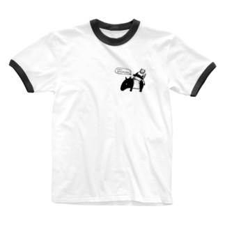 Let's 脱力! (ワンポイント) Ringer T-shirts