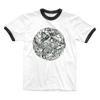Tripled ビジュアルイラスト Ringer T-shirts