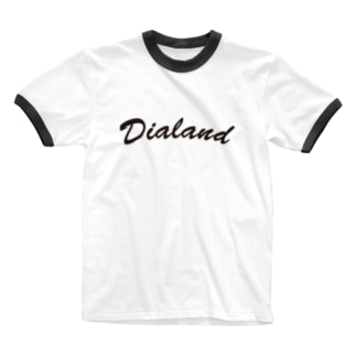 TEAM DIALAND BLACK Ringer T-shirts