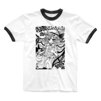 東方projectレミリアスカーレット③ Ringer T-Shirt