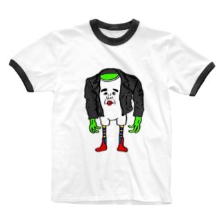 レザーマンたもつ Ringer T-shirts