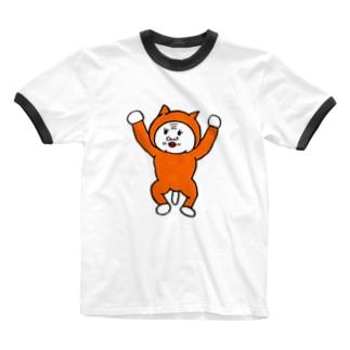 元気なババちゃん Ringer T-shirts