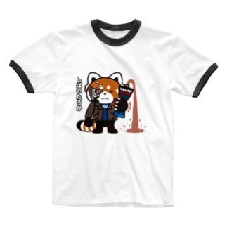 YSパンダ・サイボーグ Ringer T-shirts