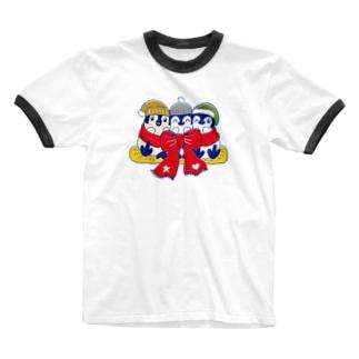 るりんごむのりぼんぺんぎん Ringer T-shirts