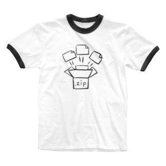 じっぷふぁいる Ringer T-shirts