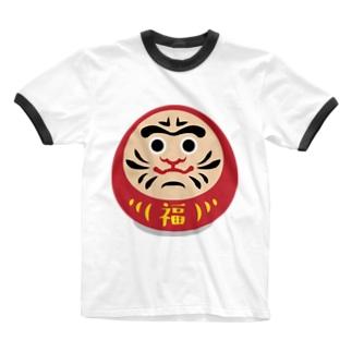 だるまん Ringer T-shirts