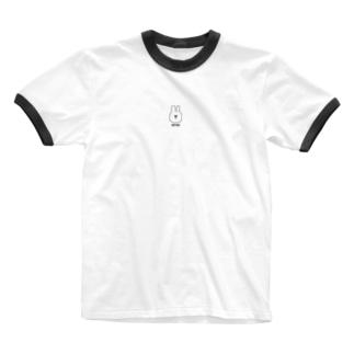 おやすみうさぎ Ringer T-shirts