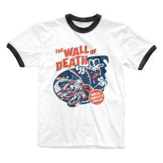 El Pinoのthe Wall of Death : Navy / Red Ringer T-shirts