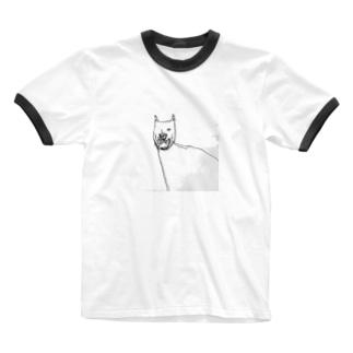 いぬ Ringer T-shirts