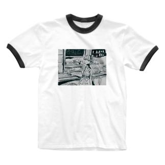 ダイナーにて Ringer T-shirts