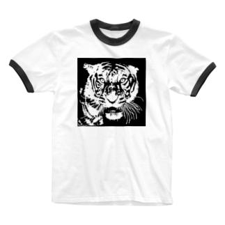 ブルース・リー先生 お気に入りの寅 🐯 Ringer T-shirts