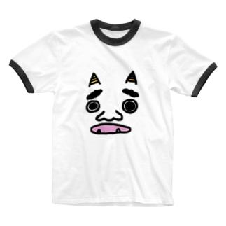 鬼。 Ringer T-shirts
