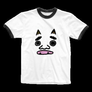TABERU WSの鬼。 Ringer T-shirts