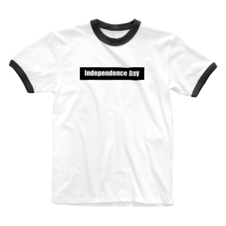 independence day 白文字 Ringer T-shirts