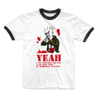 踊る大イエイさん Ringer T-shirts