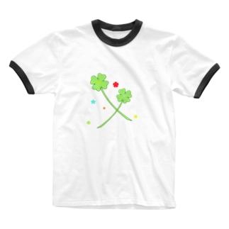 よつばとカタバミ Ringer T-shirts
