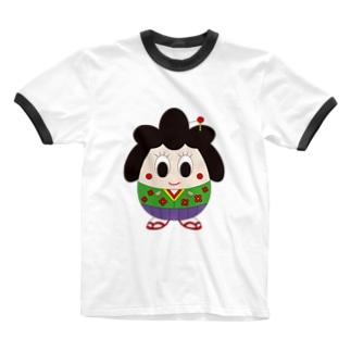 おこしゃん Ringer T-shirts
