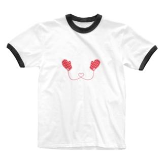 赤いミトン Ringer T-shirts
