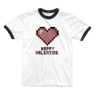 Happy Valentine 02 B Ringer T-shirts