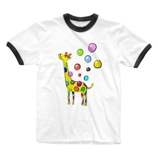 ユメジラフ Ringer T-shirts