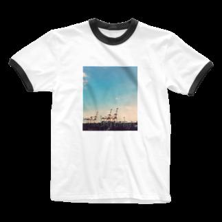 miapinのガントリークレーン Ringer T-shirts