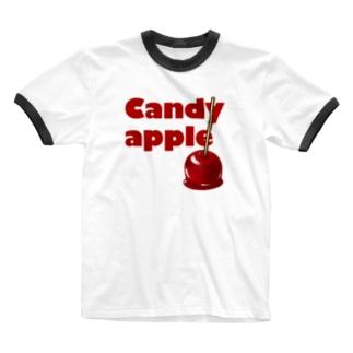 りんご飴 Ringer T-shirts