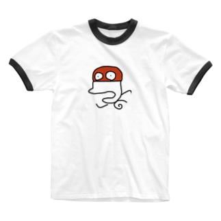 マスくん Ringer T-shirts