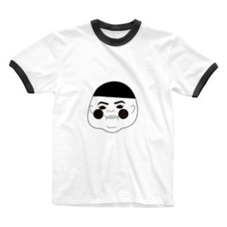 ゆいちゃん寝るのベイビー太郎 Ringer T-shirts