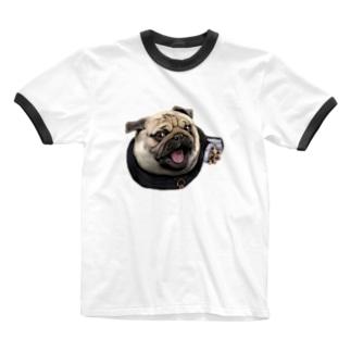 修道士 パグのパグ―グッズ Ringer T-shirts